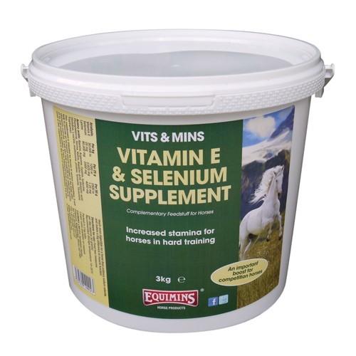 Suplemento con vitamina E y selenio Equimins Vitamin E & Selenium