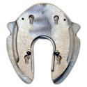 Herradura de aluminio para competición y ortopedia Colleoni Tris Base (T)